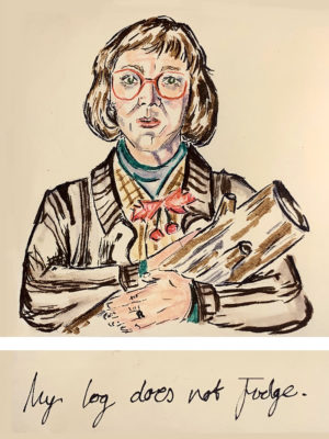 Twin Peaks Log Lady poster